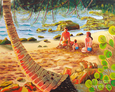 Painting - Family Day At Jobos Beach by Milagros Palmieri