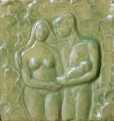 Sculpture - Family by Deborah Dendler
