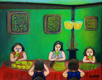 Painting - Family Dinner by Lorna Maza