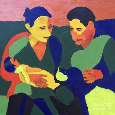 Painting - Family by Donald J Ryker III