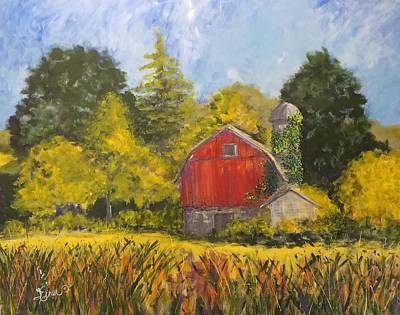 Painting - Family Farm by Terri Einer