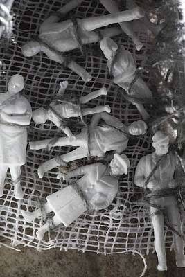 Impersonal Photograph - Family Figurines Tied To A Cloth by Ulrich Kunst And Bettina Scheidulin