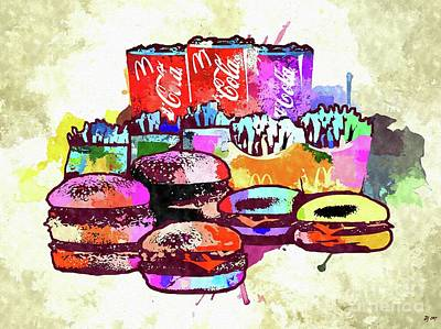 Potato Mixed Media - Family Food Colored Grunge by Daniel Janda