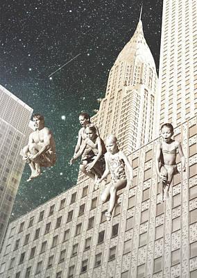 Trippy Digital Art - Family by Fran Rodriguez