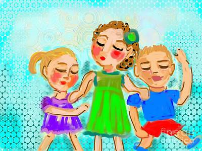 Family Fun Art Print by Elaine Lanoue