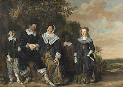 Painting - Family Group In A Landscape by Frans Hals