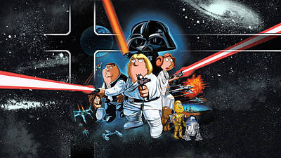 Blue Digital Art - Family Guy Presents Blue Harvest by Super Lovely