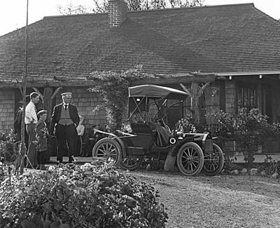 Gathering Photograph - Family Has A New Car by Underwood Archives