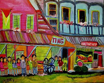 Litvack Painting - Family In British Guyana by Michael Litvack
