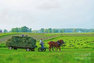 Photograph - Family In The Hay Field by David Arment