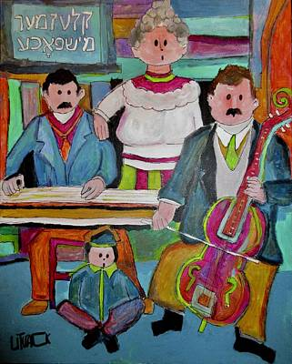Painting - Family Klezmer Band Duet by Michael Litvack