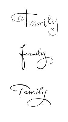 Family Lettering - Ai Art Print by Gillham Studios