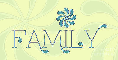 Familia Digital Art - Family by Liesl Marelli