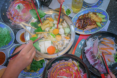 Kobe Beef Photograph - Family Marty With Sukiyaki  by Anek Suwannaphoom