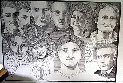 Genealogy Drawing - Family  by M Brandl