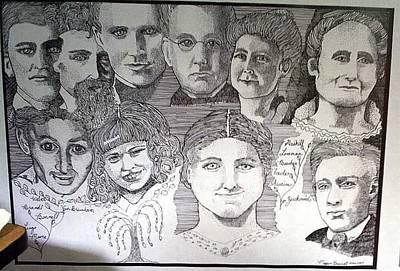 Genealogy Drawing - Family  by Megan Brandl