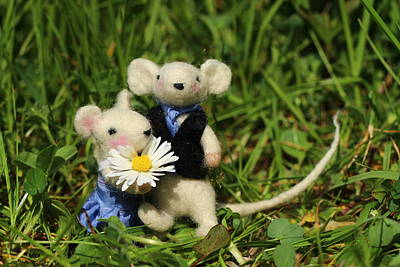 Mouse Photograph - Family Mouse On The Spring Meadow .1. by Heike Hultsch