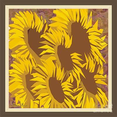 Family Of Sunflowers Original