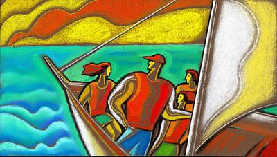 Caribbean Sea Painting - Family On Vacation by Leon Zernitsky