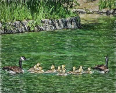Family Outing Art Print