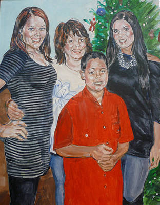 Painting - Family Portrait by Bryan Bustard