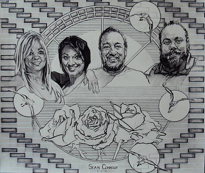 Drawing - Family Portrait In Charcoal by Sean Connolly
