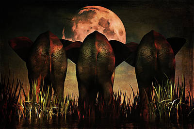 Elephant Painting - Family Portrait by Jan Keteleer