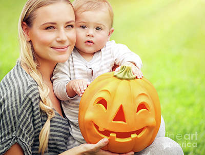 Photograph - Family Portrait On Halloween Day by Anna Om