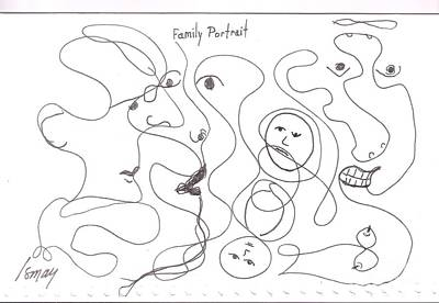 Drawing - Family Portrait by Rod Ismay