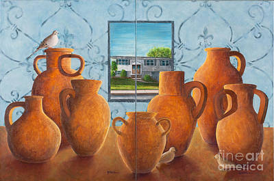 Painting - Family Portrait A And B by Sandra Neumann Wilderman