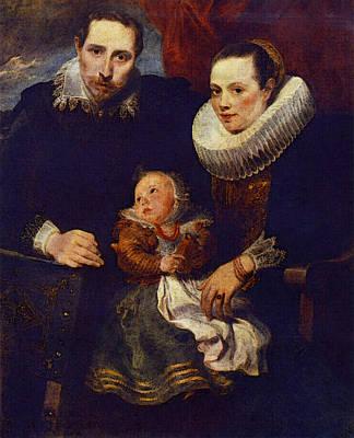 Digital Art - Family Portrait  by Sir Antony van Dyck