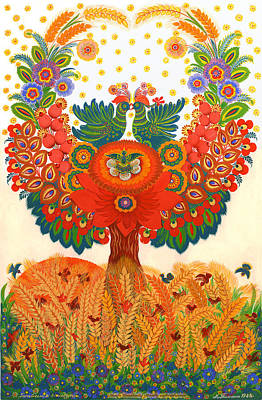 Tree With Eye Painting - Family Replenishment by Olena Kulyk