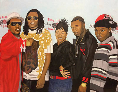 Painting - Family Reunion by Angelo Thomas