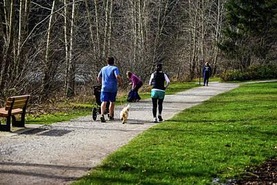 Photograph - Family Run At Lake Padden by Tom Cochran