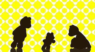 Lovable Digital Art - Family Shiloette by Jason Sharpe