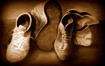 Drawing - Family Shoes by VIVA Anderson