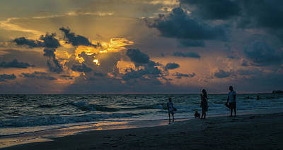 Photograph - Family Sunset by Jane Luxton