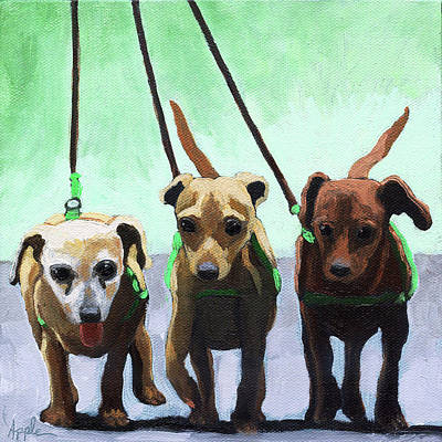 Painting - Family Ties - Chihuahuas Dog Painting by Linda Apple
