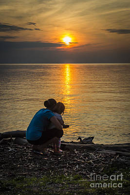 Photograph - Family Time At Sunset by Joann Long