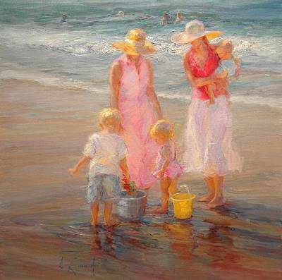 Newton Painting - Family Time by Diane Leonard