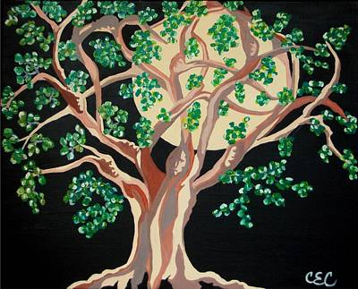 Art Print featuring the painting Family Tree by Carolyn Cable