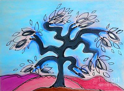 Mixed Media - Family Tree by L Cecka