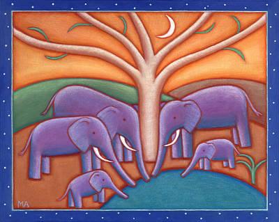Family Tree Art Print by Mary Anne Nagy