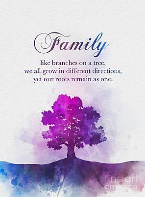 Mixed Media - Family Tree by Rebecca Jenkins