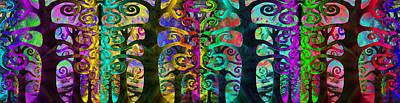 Surrealism Mixed Media - Family United by Angelina Vick