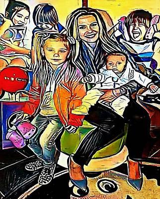 Looking At Camera Drawing - family - My WWW vikinek-art.com by Viktor Lebeda