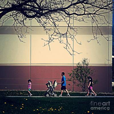 Family Walk To The Park Art Print