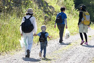 Photograph - Family Walk by Masami Iida