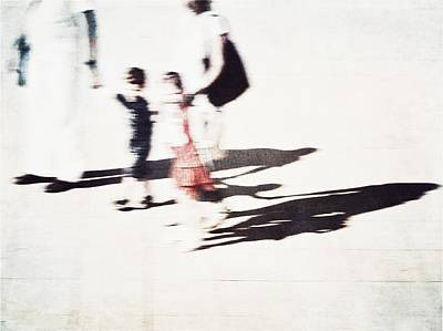 Photograph - Family Walk On A Sunny Day by Siegfried Ferlin