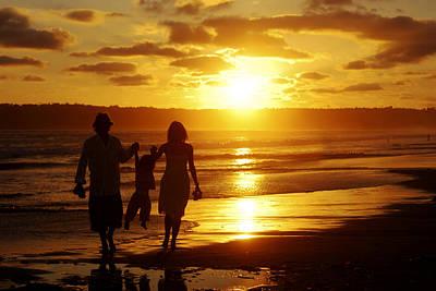 Photograph - Family Walk On Beach by Jill Reger